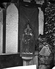 Effigy of St David, Plas Newydd, Llangollen