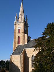 The church in La Chapelle-Caro