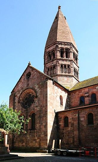 St. Faith's Church, Sélestat - Image: Eglise Sainte Foy Selestat Vierungsturm