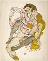 Egon Schiele - Seated Couple, 1915 - Google Art Project.jpg