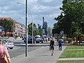 Eisenhüttenstadt Zentrum Blick zum Stahlwerk - panoramio.jpg