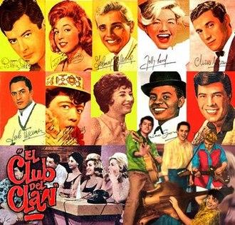 Nueva ola - The young cast of TV show El club del clan, circa 1963.