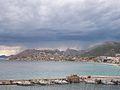 El port de Calp un dia de tempesta.JPG