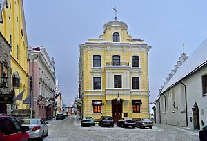 Maiasmokk - Maiasmokk is located in the ground floor of the yellow building in the centre.