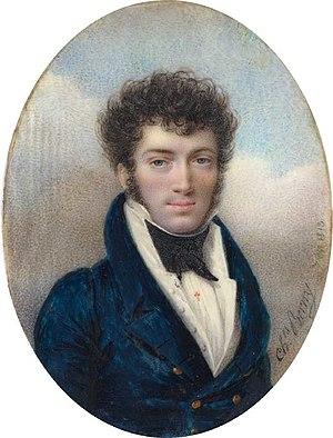 Charles Berny d'Ouvillé - Portrait miniature de l'acteur François Elleviou, 1813 by Charles Berny