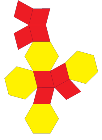 Elongated dodecahedron - Image: Elongated dodecahedron net
