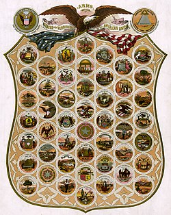 Seals of the U.S. states (1876)