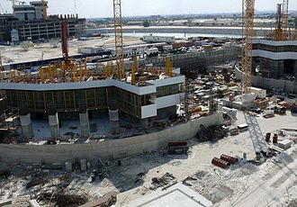 JW Marriott Marquis Dubai - Image: Emirates Park Towers Under Construction on 28 December 2007