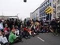 Ende Gelände blockade of the Invalidenstraße next to the Invalidenpark 05.jpg