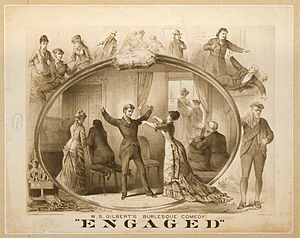 Promotional poster for W. S. Gilbert's Engaged.