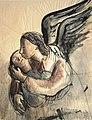 Engel med barn.Elisa Maria Boglino. Akvarel. ca 1929.jpg