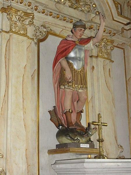 Englefontaine (Nord, Fr) église Saint-Georges, statue de saint Georges