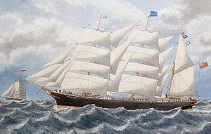 English School - The barque Victoria Cross under full sail.jpg