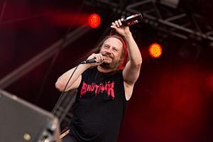 Entombed A.D. - Singer Lars Göran Petrov with Entombed A.D. at the Rockharz Open Air 2016 in Germany