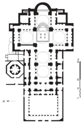 Floor plan of the Basilica of St. John in Ephesus