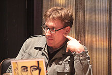 Eric Jarosinski during a lecture in Amsterdam, January 2015