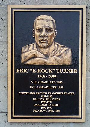 Ventura High School - Eric Turner plaque at Ventura High School