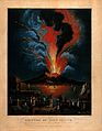 Eruption of the Vesuvius at night; people in the Wellcome V0044792.jpg