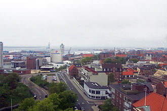 Esbjerg - Esbjerg Harbour from the watertower