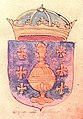 Escudo da Galiza no armorial Slains (1565).jpg