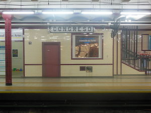 Congreso (Buenos Aires Underground) - Image: Estación Congreso (línea A)