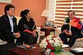 Esther Morales, hermana del presidente de Bolivia Evo Morales se reunió con el Canciller Ricardo Patiño (8001319097).jpg