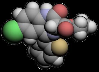 Ethyl loflazepate - Image: Et Loflazepate 3d