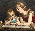 Eugène Siberdt - The reading lesson 1884.jpg