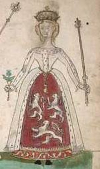 Euphemia de Ross - Euphemia depicted in the Forman Armorial, produced in 1562 for her descendent Mary, Queen of Scots