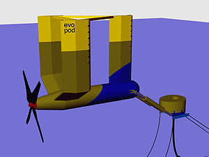 Tidal stream generator - A 3D model of an Evopod tidal turbine