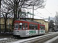 Ex-Halle GT4 886 in Iasi, westbound on Strada Padurii in 2006.jpg