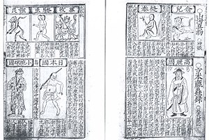 Luochong Lu - An excerpt from the Luochong lu showing Korean, Japanese and Ryukyuan ethnicities.