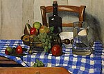 Félix Vallotton, 1919 - Nature morte avec nappe à carreaux bleue.jpg