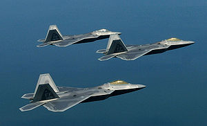 1st Fighter Wing - Formation of 1st Fighter Wing F-22 Raptors