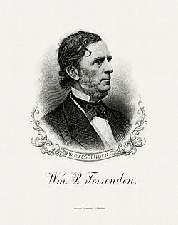FESSENDEN, William P-Treasury (BEP engraved portrait)