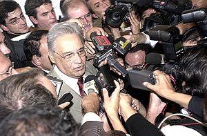 Brasília - O ex-presidente da República Fernando Henrique Cardoso, concede entrevista no hotel Kubitschek Plaza em maio de 2005 (Foto: Lindomar Cruz/ABr.).