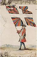 Fahne Schweizergarderegiment Frankreich 1721