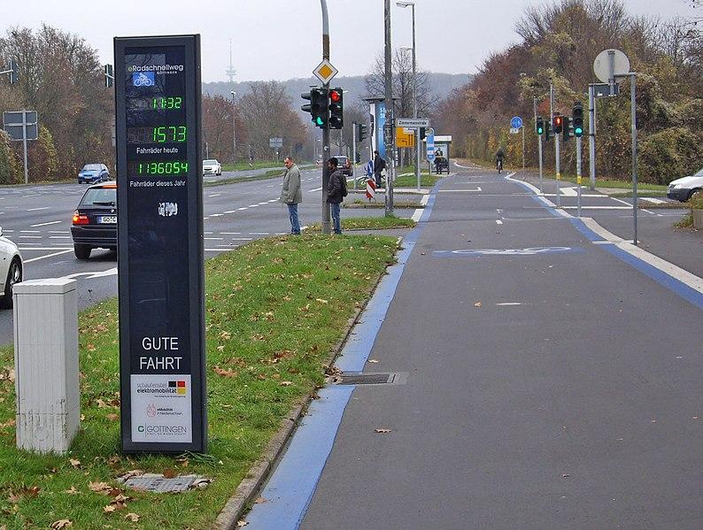Radverkehrszählanlage Induktionsschleife RoKo-Straße