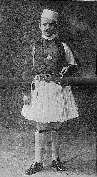 Faik Konica - A young Faik Konica in national Albanian dress, 1918