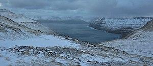 Faroe Islands, Eysturoy, Funningsfjørður (fjord) in October