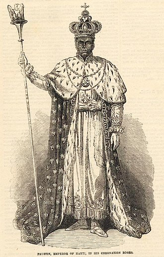 Faustin Soulouque - Faustin I, from The Illustrated London News, 16 February 1856
