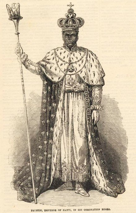 Faustin I, from The Illustrated London News, 16 February 1856 Faustin I.jpg