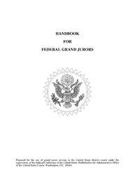 Handbook for US Federal grand jury members