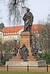 Das 2008 eingeweihte Denkmal in Leipzig, 2011 (Quelle: Wikimedia)