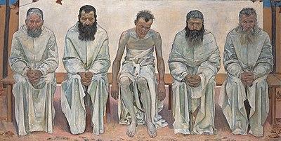 Las de la vie Peinture de Ferdinand Hodler (1892).