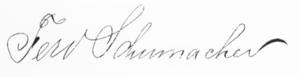 Ferdinand Schumacher - Image: Ferdinand Schumacher signature