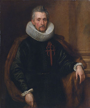 Zaventem - Ferdinand de Boischott (1571-1649), 1st Baron of Saventhem (painted by Anthony van Dyck, 1630)