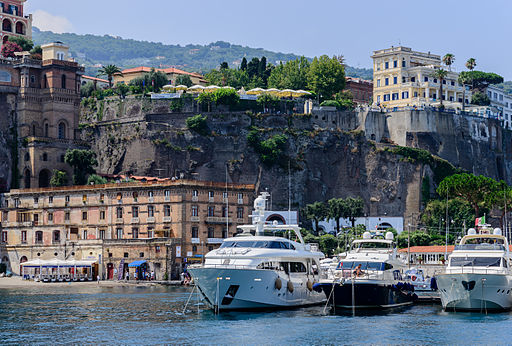 Ferry and yacht port of Sorrento - Campania - Italy - July 12th 2013 - 01