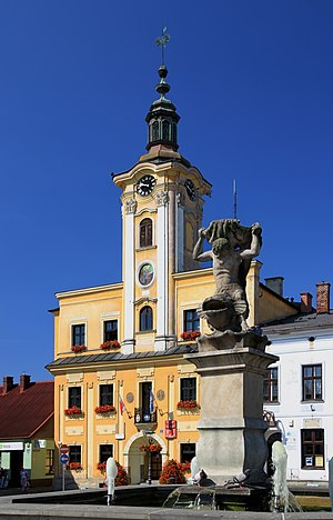 Skoczów - Town hall built in the 18th century
