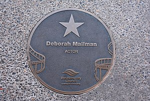 Deborah Mailman - Mailman's plaque at the Australian Film Walk of Fame, Ritz Cinema, Randwick, Sydney